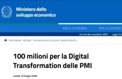 Digital transformation, decreto attuativo MISE: 100 milioni per PMI